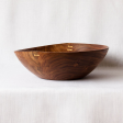 Rosewood Bowl with Brass Detailing
