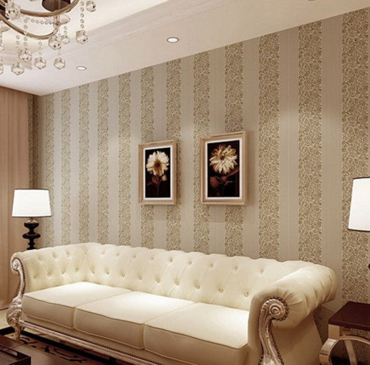 Flocking Wallpaper For Bedroom Background Home Improvement Wall Paper  Decoration A Grade 53cm*10m