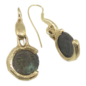 Bronze Coins Earrings