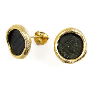 Roman Coins stud earrings