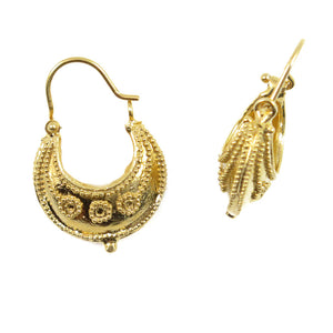 Etruscan basket earrings