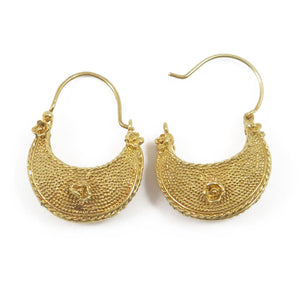 Etruscan basket one flower earrings