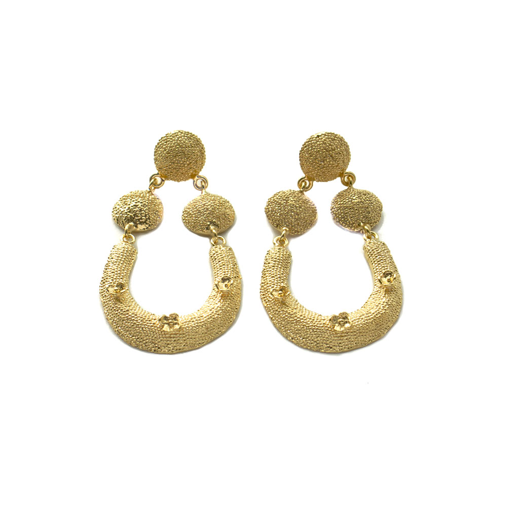 Large horseshoe earrings
