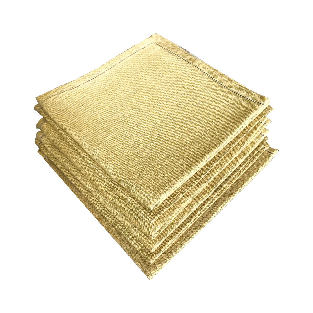 Napkin 100% Italian Linen Yellow Gold