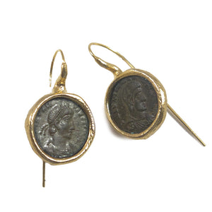 Roman coins earrings