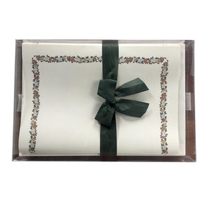 Three Colors Roses frame stationery set finest italian cotton paper