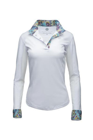 Long sleeve mesh-vented Equestrian Tee