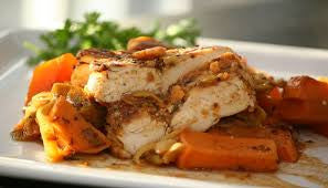 Fit: Roasted Sweet Potatoes with grilled Organic Chicken breast