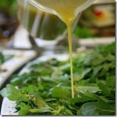 SALAD: Green salad, roasted garlic and lemon vinaigrette
