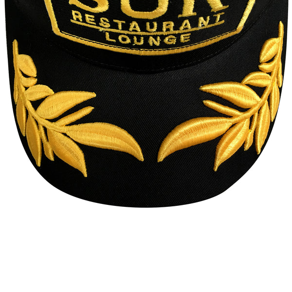 SUR Black and Gold Captain Hat
