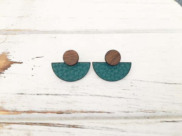 3 Styles in 1 Earrings - Dark Teal