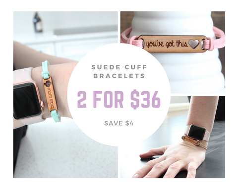 2 Suede Cuff Bracelets for $36