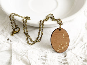 Zodiac Constellation Necklace - Gold Sagittarius