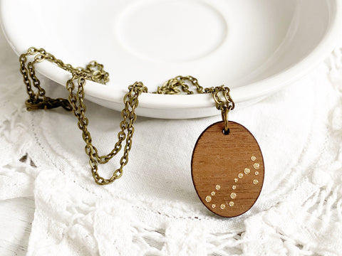 Zodiac Constellation Necklace - Gold Scorpio