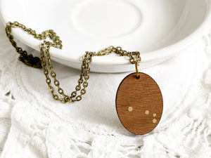 Zodiac Constellation Necklace - Gold Aries