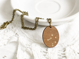 Zodiac Constellation Necklace - Gold Libra