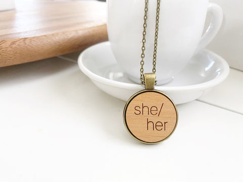 She/Her Necklace