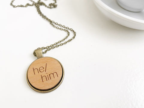 He/Him Necklace