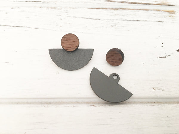 3 Styles in 1 Earrings - Dark Grey