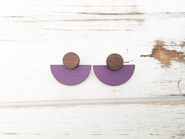 3 Styles in 1 Earrings - Purple