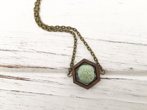 Mint Essential Oil Diffuser Necklace