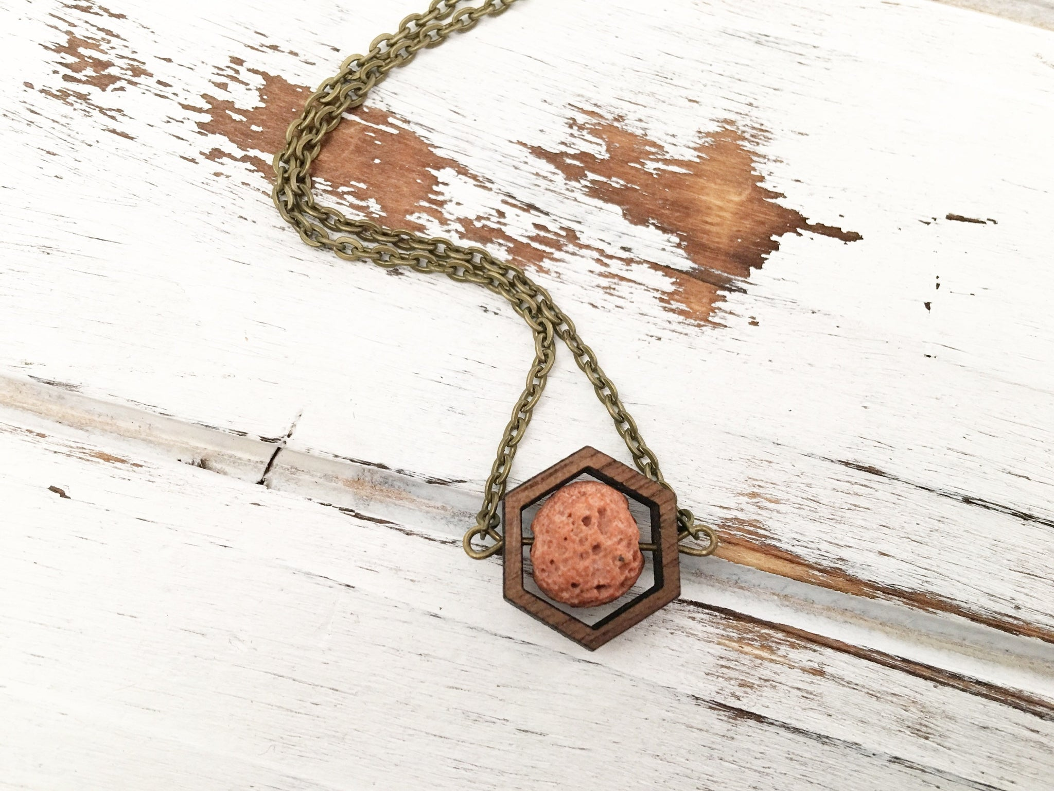 Orange Essential Oil Diffuser Necklace