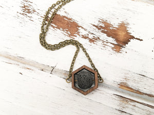 Black Essential Oil Diffuser Necklace