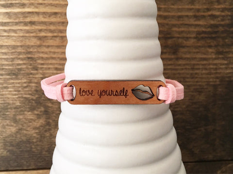 Love Yourself Suede Bracelet