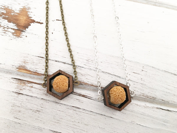Mustard Essential Oil Diffuser Necklace