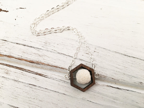 White Essential Oil Diffuser Necklace