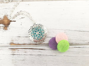 Locket Essential Oil Diffuser Necklace