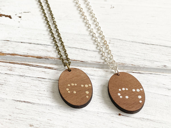 Zodiac Constellation Necklace - Gold Cancer