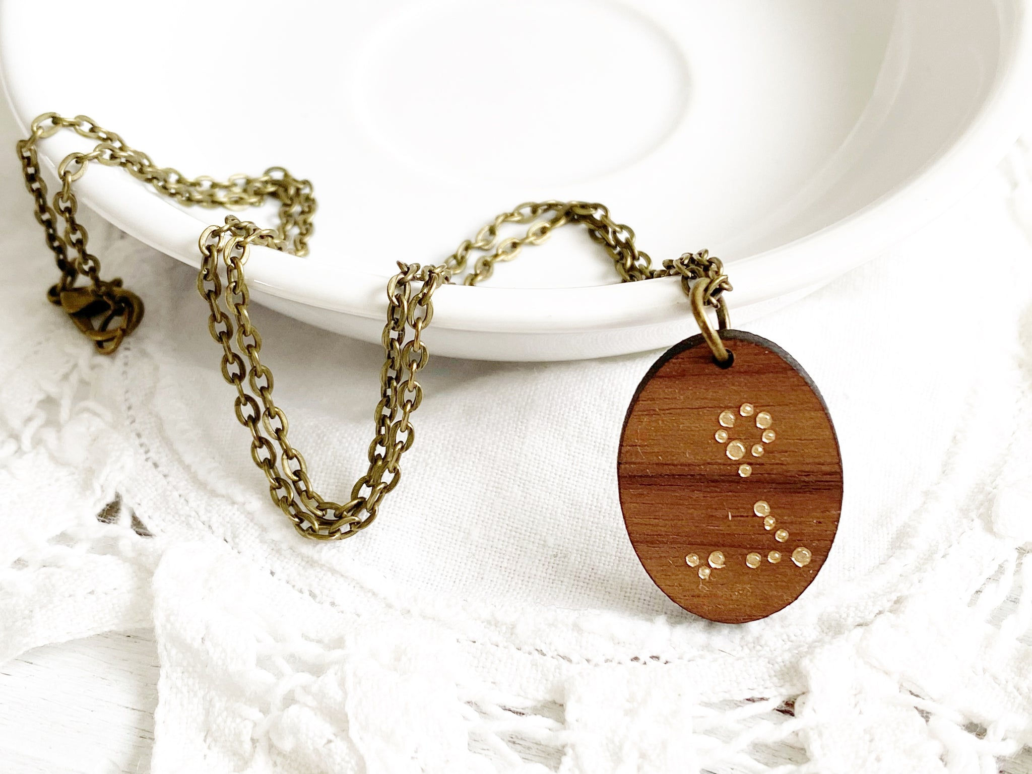 Zodiac Constellation Necklace - Gold Pisces