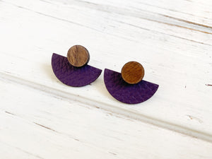 3 Styles in 1 Earrings - Plum