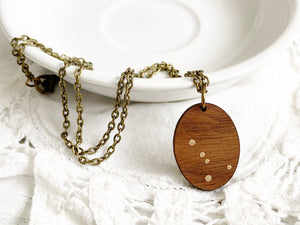 Zodiac Constellation Necklace - Cancer