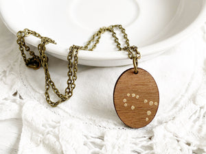 Zodiac Constellation Necklace - Gold Gemini
