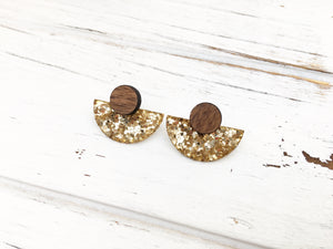 3 Styles in 1 Earrings - Gold Glitter