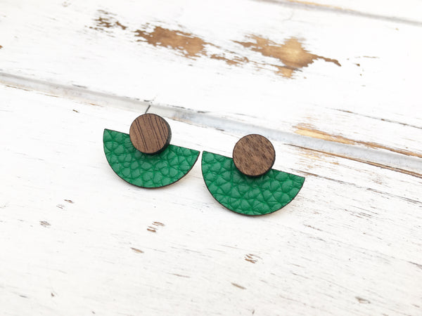 3 Styles in 1 Earrings - Green