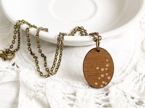 Zodiac Constellation Necklace - Virgo