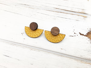 3 Styles in 1 Earrings - Mustard