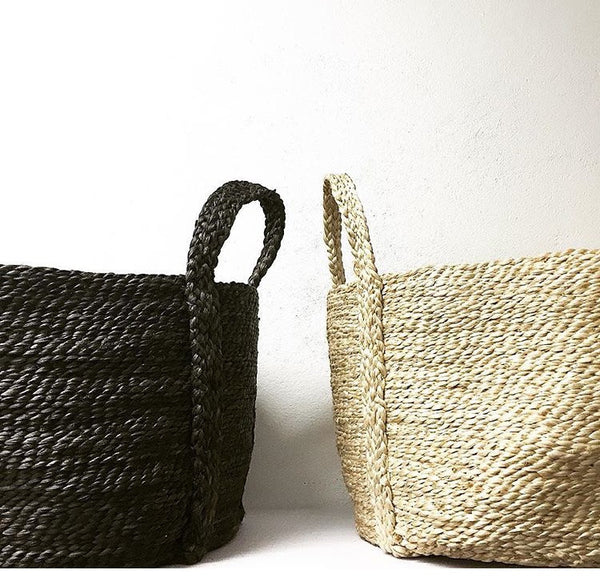 jute basket charcoal small