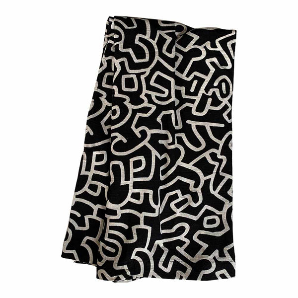 abstract throw black/natural