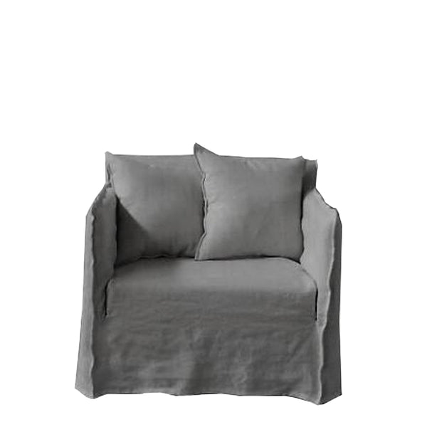 linen armchair - grey