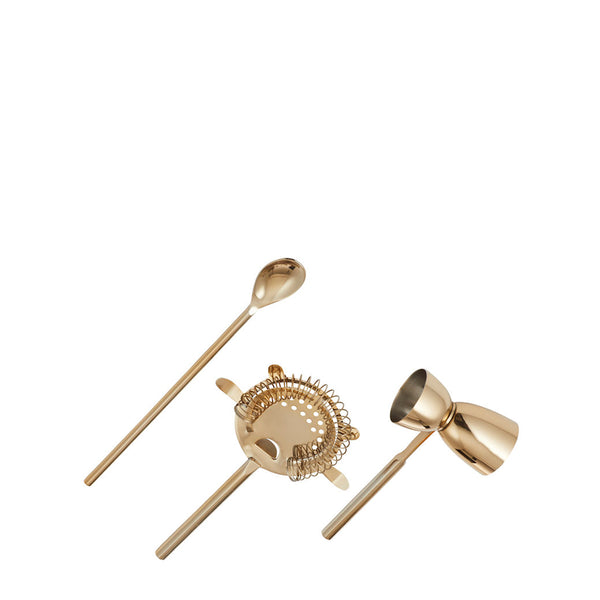 bar tools set gold