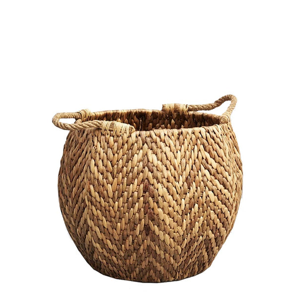 cane hexagonal basket
