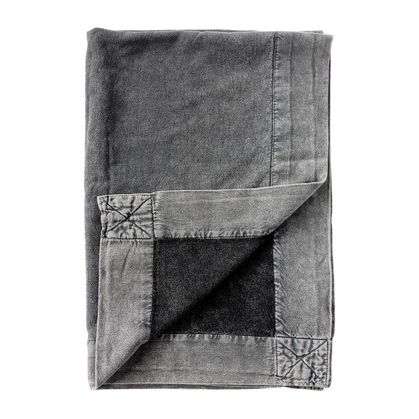 vintage wash bath mat charcoal