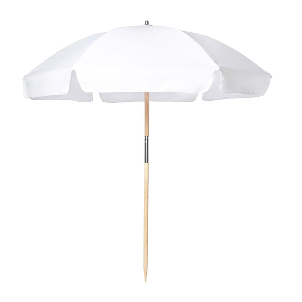 beach umbrella white