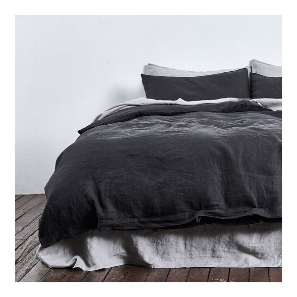 linen duvet cover queen kohl