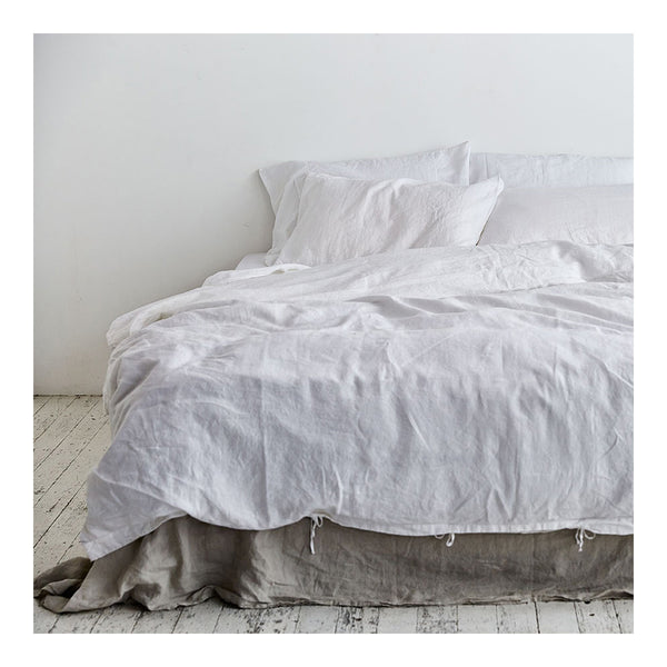 linen duvet cover queen white