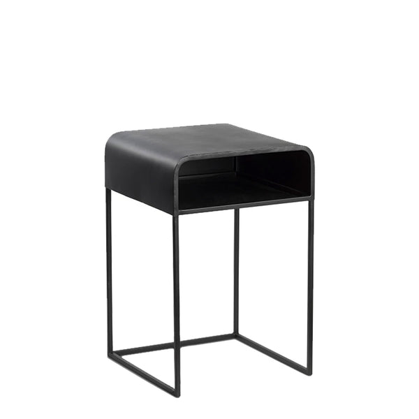 kova bedside table black